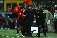 Milan 08-03-2005<br />Champions League 2004-2005<br />Milan Manchester United<br />nella  foto Gattuso esulta  con  Ancelotti<br />Foto Snapshot / Graffiti