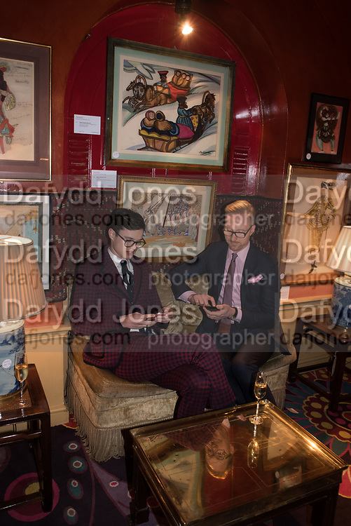 JONATHAN BROOK; MARTIN BRUDNIZKI, Pedro Girao of Christies and Duncan Macintyre of Lombard Odier host the last dinner at the Old Annabels. 44 Berkeley Sq. London. 15 November 2018