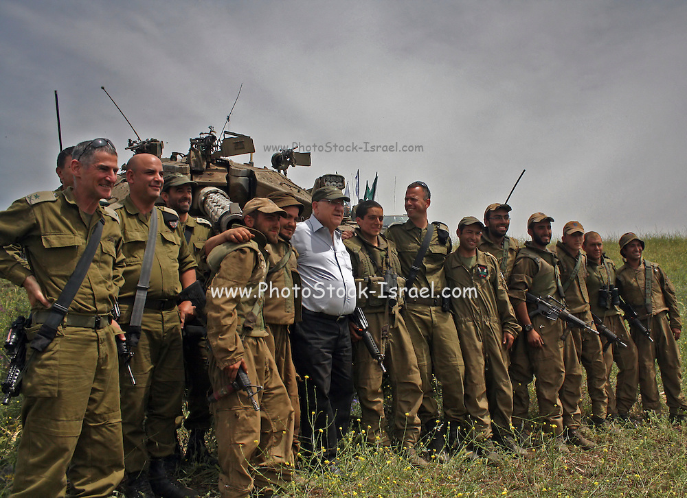 """On April 21st, Israeli president Reuven """"Ruvi"""" Rivlin observed a military exercise in Northern Israel"""