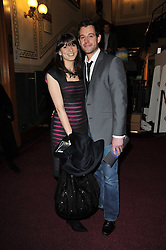 MATT BAKER and his wife NICOLA  at the opening night of Totem by Cirque du Soleil held at The Royal Albert Hall, London on 5th January 2011.