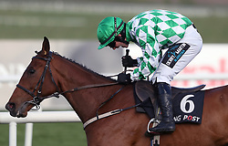 Tornado Flyer ridden by Richie Deegan wins the Racing Post Champion I.N.H. Flat Race For The Conyngham Cup during day two of the Punchestown Festival 2018 at Punchestown Racecourse, County Kildare.