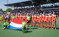 AMSTELVEEN - line up team Netherlands.   voor   de Pro League hockeywedstrijd dames, Nederland-Australie (3-1) COPYRIGHT  KOEN SUYK