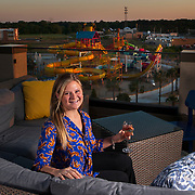 Gracie Rigby sits at her rooftop bar on top of the Best Western Plus in Warner Robins, Georgia. Nathan Lambrecht/Journal Communications