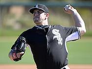GLENDALE, AZ - FEBRUARY 24:  Carlos Rodon #80 of the Chicago White Sox pitches during spring training workouts on February 24, 2015 at The Ballpark at Camelback Ranch in Glendale, Arizona. (Photo by Ron Vesely)   Subject:   Carlos Rodon