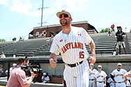 WINSTON-SALEM, NC - JUNE 02: Maryland's Patrick Hisle. The West Virginia University Mountaineers played the University of Maryland Terrapins on June 2, 2017, at David F. Couch Ballpark in Winston-Salem, NC in NCAA Division I College Baseball Tournament Winston-Salem Regional Game 1. West Virginia won the game 9-1.