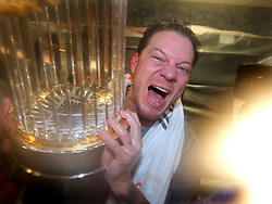 Jake Peavy celebrates after Game 7 of the World Series, 2014 World Series Champion Giants