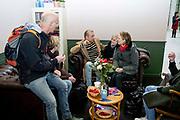 Prinses Laurentien en bekende nederlanders voeren op Valentijnsdag echte gesprekken op station Utrecht Centraal als onderdeel van de actie #echtcontact.<br /> <br /> Op de foto:  Jamai Loman
