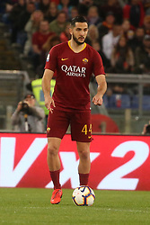 May 12, 2019 - Rome, Lazio, Italy - Roma, Lazio, Italy, 12-05-19, Italian football match between As Roma - Juventus at the Olimpico Stadium in picture Konstantinos Manolas defender of As Roma , the final score is 0-2 for As Roma  (Credit Image: © Antonio Balasco/Pacific Press via ZUMA Wire)