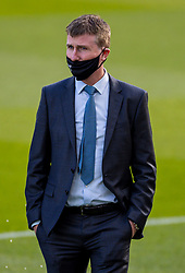 DUBLIN, REPUBLIC OF IRELAND - Sunday, October 11, 2020: Republic of Ireland's head coach Stephen Kenny, wearing a face mask, before during the UEFA Nations League Group Stage League B Group 4 match between Republic of Ireland and Wales at the Aviva Stadium. The game ended in a 0-0 draw. (Pic by David Rawcliffe/Propaganda)