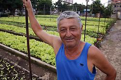 Watchman at La Sazon organic garden in Havana; Cuba,