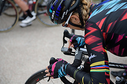 Pauline Ferrand Prevot makes her debut for CANYON//SRAM Racing at Strade Bianche - Elite Women. A 127 km road race on March 4th 2017, starting and finishing in Siena, Italy. (Photo by Sean Robinson/Velofocus)