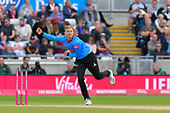 Danny Briggs of Sussex bowling during the Vitality T20 Finals Day semi final 2018 match between Sussex Sharks and Somerset County Cricket Club at Edgbaston, Birmingham, United Kingdom on 15 September 2018.