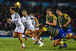 Thomas Ramos of Toulouse makes a break - Mandatory by-line: Craig Thomas/JMP - 14/01/2018 - RUGBY - BT Sport Cardiff Arms Park - Cardiff, Wales - Cardiff Blues v Toulouse - European Rugby Challenge Cup