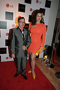 JACQUES AZAGURY AND IMMODESTY BLAIZE, Scarlet launch.- LG Scarlet TV. 1 Marylebone. London NW1. 30 April 2008. *** Local Caption *** -DO NOT ARCHIVE-© Copyright Photograph by Dafydd Jones. 248 Clapham Rd. London SW9 0PZ. Tel 0207 820 0771. www.dafjones.com.