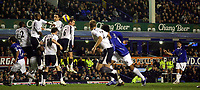 Photo: Paul Thomas.<br /> Everton v Tottenham Hotspur. The Barclays Premiership. 21/02/2007.<br /> <br /> Mikael Arteta (Right number Blue 6) scores for Everton.