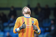 Gillingham FC goalkeeper Tomas Holy (1)  at the final whistle during the EFL Sky Bet League 1 match between Gillingham and Bradford City at the MEMS Priestfield Stadium, Gillingham, England on 27 October 2018.