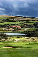 WIMEREUX   (FR.) - Par 3, green hole 2 van Wimereux Golf Club . Copyright Koen Suyk