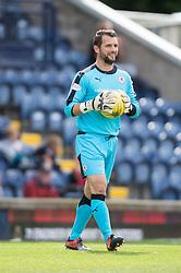 Raith Rovers keeper Kevin Cuthbert. <br /> Raith Rovers 3 v 0 Livingston, SPFL Ladbrokes Premiership game played 8/8/2015 at Stark's Park.