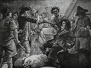 Capture of Irish Nationist Wolf Tone (1763-1798).