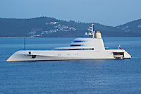 """Andrey Melnichenko's Mega Yacht """"A"""" Off St. Georges, Grenada. Image taken with a Nikon D3s and 70-300 mm VR lens (ISO 400, 185 mm, f/11, 1/125 sec).."""
