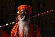Portrait of a spiritual Sadhu man, Jaipur, Rajasthan province, India