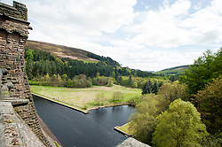 The View from Derwent Reservoir dam wall in the Peak National Park..http://www.pauldaviddrabble.co.uk.25 March 2012 .Image © Paul David Drabble