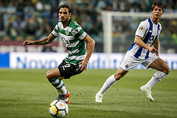 """April 19, 2018 - Na - Lisbon, 04/18/2018 - Sporting Clube de Portugal received this evening the Futebol Clube do Porto in the stadium of Alvalade in Lisbon, in game to count for the second leg of the Portuguese Cup 2017/2018 semi-final. Bryan Ruiz; Ã""""liver Torres  (Credit Image: © Atlantico Press via ZUMA Wire)"""