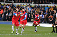 Gillingham's Chris Whelpdale (c, no7) celebrates after he scores the 1st  goal. NPower league two match, Bristol Rovers v Gillingham at the Memorial stadium in Bristol on Saturday 5th Jan 2013. pic by Andrew Orchard, Andrew Orchard sports photography,