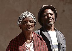 Nov. 21, 2014 - Mthatha, Eastern Cape, South Africa - A portrait of the 77 year-old Beauty Sodo (Left) and  the 73 year-old Tatongo Gamo, from Mandela's homeland of Mthatha. Mthatha, Eastern Cape, South Africa. (Picture by: Artur Widak/NurPhoto) (Credit Image: © Artur Widak/NurPhoto/ZUMA Wire)