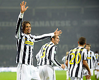 L'esultanza di Amauri ( Juventus ) per il goal del 4-0.<br /> Amauri celebrates his 4-0 leading goal scored for Juventus.<br /> Torino 28/10/2009 Stadio Olimpico<br /> Juventus Sampdoria - Campionato di Calcio Serie A Tim 2009-2010.<br /> Foto Giorgio Perottino / Insidefoto
