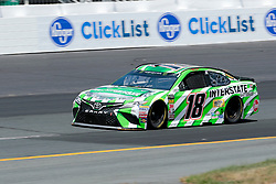 July 21, 2018 - Loudon, NH, U.S. - LOUDON, NH - JULY 21: Kyle Busch, Monster Energy NASCAR Cup Series driver of the Interstate Batteries Toyota (18), during practice for the Foxwoods Resort Casino 301 on July 21, 2018, at New Hampshire Motor Speedway in Loudon, New Hampshire. (Photo by Fred Kfoury III/Icon Sportswire) (Credit Image: © Fred Kfoury Iii/Icon SMI via ZUMA Press)