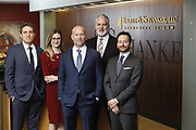 SHOT 1/8/19 12:19:47 PM - Bachus & Schanker LLC lawyers James Olsen, Maaren Johnson, J. Kyle Bachus, Darin Schanker and Andrew Quisenberry in their downtown Denver, Co. offices. The law firm specializes in car accidents, personal injury cases, consumer rights, class action suits and much more. (Photo by Marc Piscotty / © 2018)