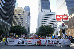 May 1, 2019 - Los Angeles, California, U.S - Thousands of workers rally on May Day in Los Angeles Wednesday, May 1, 2019. (Credit Image: © Ringo Chiu/ZUMA Wire)