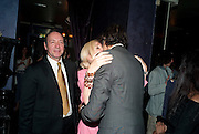 KEVIN SPACEY; SALLY GREENE; JEFF GOLDBLUM; The Old Vic at the Vaudeville Theatre ' The Prisoner of Second Avenue'  press night. After-party at Jewel. 13 July 2010. -DO NOT ARCHIVE-© Copyright Photograph by Dafydd Jones. 248 Clapham Rd. London SW9 0PZ. Tel 0207 820 0771. www.dafjones.com.