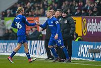 Football-2017/2018 Premier League - Burnley v  Everton <br /> <br /> Tom Davies of Everton replaces Wayne Rooney of Everton at Turf Moor.<br /> <br /> COLORSPORT