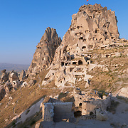 Uchisar Castle At Sunset, Cappadocia