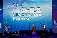 U.S. Vice President Mike Pence speaks at the NRA-ILA Leadership Forum during the NRA Annual Meeting & Exhibits on <br /> May 4, 2018 in Dallas, Texas at the Kay Bailey Hutchison Convention Center.