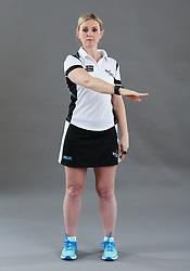 Umpire Alison Davies signalling ordering off