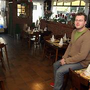 Hilko Kraamer in zijn restaurant restaurant Hilko Havenstraat 75 Hilversum int.