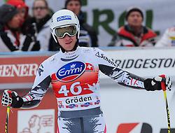 20.12.2013, Saslong, Groeden, ITA, FIS Ski Weltcup, Groeden, Herren, SuperG, im Bild Florian Scheiber (AUT) // Florian Scheiber of Austria reacts at the finish area during mens Super-G of the Groeden FIS Ski Alpine World Cup at the Saslong Course in Gardena, Italy on 2012/12/20. EXPA Pictures © 2013, PhotoCredit: EXPA/ Johann Groder