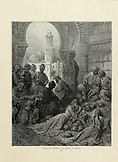 Cruelties of Bibars [al-Malik al-Zahir Rukn al-Din Baibars al-Bunduqdari 1228-1277] Plate LXXXI from the book Story of the crusades. with a magnificent gallery of one hundred full-page engravings by the world-renowned artist, Gustave Doré [Gustave Dore] by Boyd, James P. (James Penny), 1836-1910. Published in Philadelphia 1892