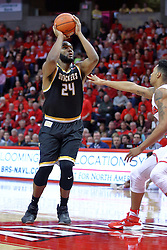 14 January 2017:  Shaquille Morris during an NCAA  MVC (Missouri Valley conference) mens basketball game between the Wichita State Shockers the Illinois State Redbirds in  Redbird Arena, Normal IL