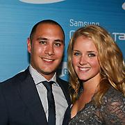 NLD/Amsterdam/20110823 - Presentatie Samsung Galaxy Tab, Liza Sips en partner Joel Davans