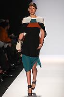 Amanda Ware walks the runway wearing BCBG MAXAZRIA Fall 2012 during Mercedes-Benz Fashion Week in New York City,  on February 9th, 2012
