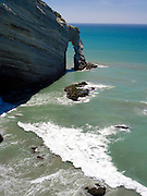 Arch at Cape Farewell, the northernmost point of the New Zealand's South Island.