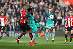 March 9, 2019 - Southampton, England, United Kingdom - Tottenham defender Danny Rose clears the ball from Southampton defender Yan Valery during the Premier League match between Southampton and Tottenham Hotspur at St Mary's Stadium, Southampton on Saturday 9th March 2019. (Credit Image: © Mi News/NurPhoto via ZUMA Press)