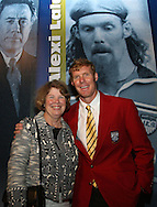 28 August 2006: 2006 Hall of Fame inductee Alexi Lalas (r) poses with his mom. The National Soccer Hall of Fame Induction Ceremony was held at the National Soccer Hall of Fame in Oneonta, New York.