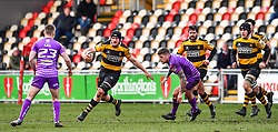 Newport's Alex Everett in action - Mandatory by-line: Craig Thomas/Replay images - 04/02/2018 - RUGBY - Rodney Parade - Newport, Wales - Newport v Ebbw Vale - Principality Premiership
