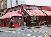 Metro cafe, South William Street and Chatham Row corner, city centre Dublin, Ireland, Irish Republic
