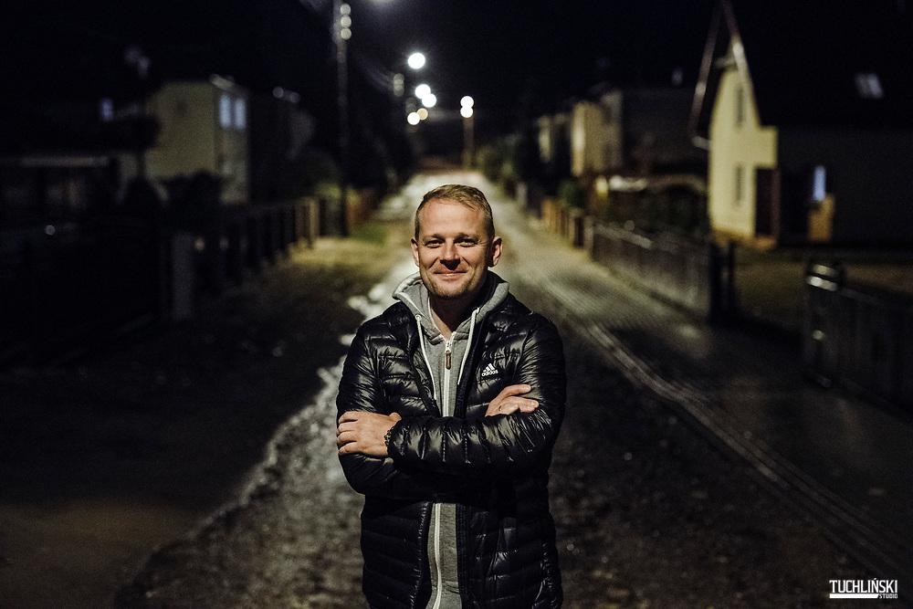 Rytel (pomorskie), Polska; 24.10.2018r.  Sołtys Łukasz Ossowski<br /> Fot. Adam Tuchlinski dla Newsweek Polska